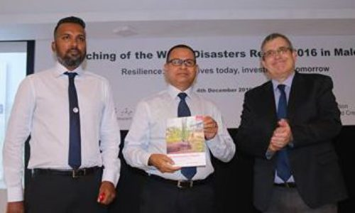 Maldivian Red Crescent launches World Disasters Report 2016 in Maldives