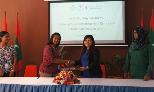 Maldivian Red Crescent and National Disaster Managing Centre signs a Memorandum of Understanding to Strengthen Strategic Partnerships in Disasters and Emergencies