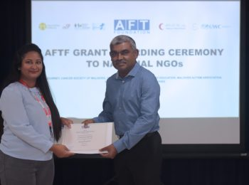 Press Release – Ali Fulhu Thuthu Foundation grants support to Maldivian Red Crescent